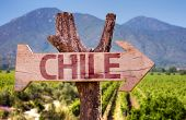 pic of aconcagua  - Chile wooden sign with winery background - JPG