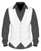 stock photo of button down shirt  - Dress shirt with waistcoat - JPG