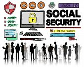 image of social-security  - Social Security Welfare Retirement Payment Concept - JPG