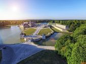 picture of chateau  - Chateau Chantilly Castle Sunset Aerial - JPG