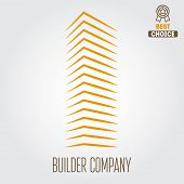 Logo, sticker, emblem, label and logotype elements for building company or business poster