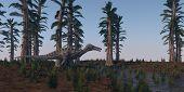 stock photo of dinosaurus  - walking hunting suchomimus dinosaurus - JPG