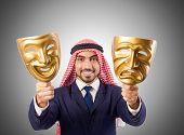 picture of arab man  - Arab man hypocrisy concept - JPG