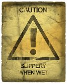 foto of warning-signs  - caution sign - JPG