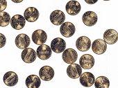 Постер, плакат: Vintage Dollar Coins 1 Cent Wheat Penny Cent
