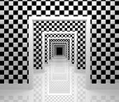 Long corridor. Checker edition.