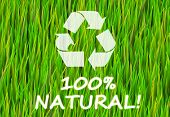 100% Natural and Pure Now Abstract Background