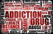 image of crack addiction  - Red Drug Addiction Dangers Grunge Warning Concept - JPG