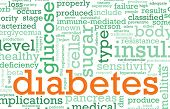 picture of diabetes symptoms  - Diabetes Illness Concept with a Terminology Art - JPG