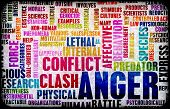 image of character traits  - Anger Concept as a Grunge Background Art - JPG