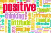 stock photo of positive thought  - Thinking Positive as an Attitude Abstract Concept - JPG