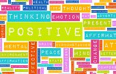picture of positive thought  - Thinking Positive as an Attitude Abstract Concept - JPG