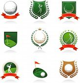 picture of golf  - Collection of golf labels - JPG