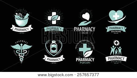 Pharmacy Drugstore Logo Or Label