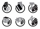 Money and bank icons