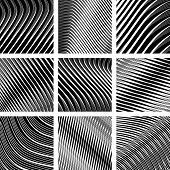 stock photo of spatial  - Abstract textured backgrounds in op art design - JPG