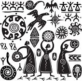 foto of shaman  - Elements for designing primitive art - JPG