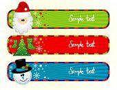 Banners de Natal vector illustration
