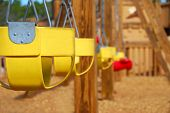 foto of swingset  - Empty Swings at Park - JPG