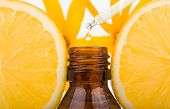 Orange Essential Oil. Essential Oil With Lemon, Natural Remedies. poster