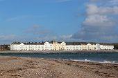 Exmouth From Dawlish Warren Beach In Devon poster