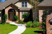 image of entryway  - Attractive brick home and landscaping - JPG