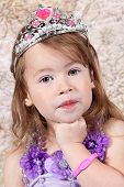 foto of toddlers tiaras  - Little girl Dressed at Princess for halloween - JPG