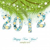 image of new years celebration  - New year 2012 background - JPG