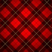 stock photo of tartan plaid  - Wallace tartan - JPG