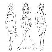 women fashion, vector