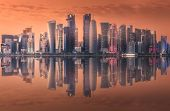 The Skyline Of West Bay And Doha City Center, Qatar poster