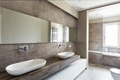 Modern Bathroom With Double Sink poster