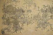 Faded Yellow Plaster Stucco Wall With Abstract Background Texture poster