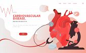 Cardiovascular Heart Diagnostics Concept Vector Illustration. Heart Tests Or Cardiology Diagnostics  poster
