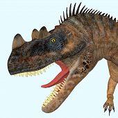Ceratosaurus Dinosaur Head 3d Illustration - Ceratosaurus Was A Theropod Carnivorous Dinosaur That L poster