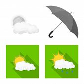 Isolated Object Of Weather And Weather Sign. Collection Of Weather And Application Vector Icon For S poster