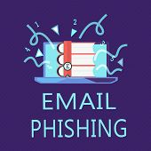 Writing Note Showing Email Phishing. Business Photo Showcasing Emails That May Link To Websites That poster