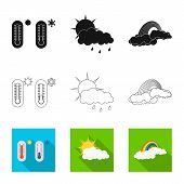 Vector Design Of Weather And Weather Logo. Set Of Weather And Application Stock Symbol For Web. poster