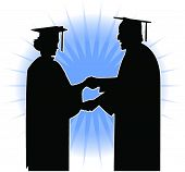 picture of convocation  - Silhouette of a Graduation ceremony - JPG