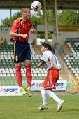 KAPOSVAR, HUNGARY - JULY 21: Unidentified players in action at the VIII. Youth Football Festival U16