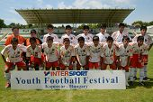 KAPOSVAR, HUNGARY - JULY 21: Chilean players at the VIII. Youth Football Festival U16 Final Munincip