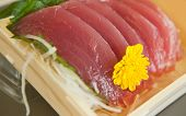 picture of yellowfin tuna  - Raw tuna sashimi with a shallow DOF - JPG