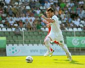 KAPOSVAR, HUNGARY - AUGUST 4: Bojan Vrucina (in white) in action at a Hungarian National Championshi