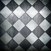 metallic grid pattern