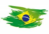 picture of carnival brazil  - brazil flag stylized on a white background paint with a brush - JPG