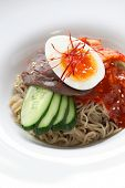 bibim naengmyeon, korean cold noodles