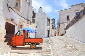 picture of cobblestone  - Perspective of an alleyway of Ceglie Messapica - JPG