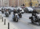 WROCLAW, POLAND - MAY 18: City is full of Harley Davidson bikers during