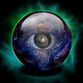 image of all seeing eye  - Crystal Ball - JPG