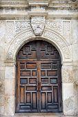 stock photo of entryway  - Entryway into the historic Alamo in San Antonio TX - JPG